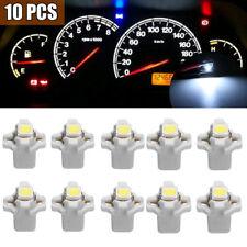10Pcs T5 B8.3D 5050 1SMD White Car Dashboard Dash Gauge Instrument Light Bulb
