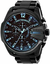 Diesel Men's DZ4318 'Mega Chief' Chronograph Black Stainless Steel Watch