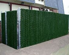 Artificial Hedge Slats Panels Fencing Outdoor Privacy Screen Fence 3.3 x 10 ft.
