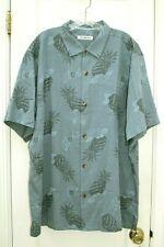 Tommy Bahama XXL Silk Cotton Pineapple Paradise Shirt Dockside Blue $135.00 NWT