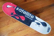 "Vintage Wooden SATELLITE Skateboard Drip Design 31"" Red, Black & White"