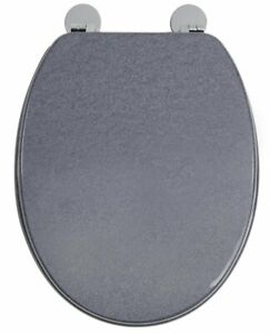 Croydex Flexi Fit Dove Toilet Seat Granite Effect Finish WL601931H Grey Slate