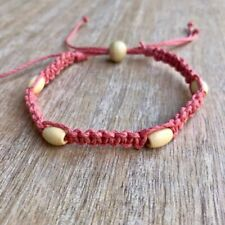 Coral Anklet Sandbar Wood Bead
