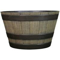 WHISKEY BARREL PLANTER Wine Half Apple Plastic Plant Flowers Weather Resistant
