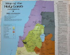 Holy Land Israel Bible Map Pilgrims Jewish Christian Study Jesus Christ Journeys