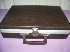 Vintage Savoy 30 Cassette Tape Storage & Carrying Case Brown Faux Leather