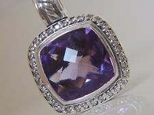 $1050 DAVID YURMAN SS ALBION AMETHYST DIAMOND ENHANCER