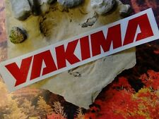 Yakima bike STICKER DECAL ride bike race MTB BMX bicycle Red Letters