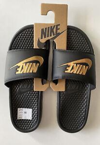 Nike / Benassi JDI / Neu / Gr. 44 / Schwarz/Gold Sandalen / Badelatschen