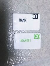 Vintage Fisher Price Little People Main Street Mail Letters #1 & #2 Bank Market
