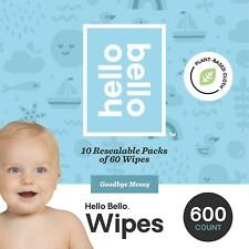 Hello Bello Baby Wipes, Unscented, 600 Count
