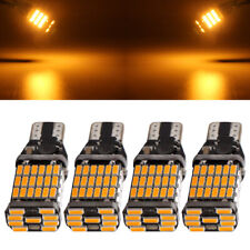 4Pcs Amber T10 T15 W16W 4014 45SMD Canbus ERROR FREE LED Reverse Lights 12V 24V