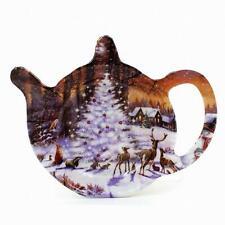 The Magic Of Christmas Tea Bag Holder Winter Scene Design