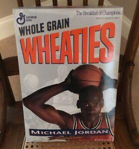Michael Jordan UnOpened WHEATIES Silver Cereal Box. Collectors Edition 1993