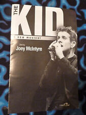 LOT OF 5 Joey McIntyre The Kid Aug.29-Sept.15.2013 Playbills BRD NEW DPAC NKOTB