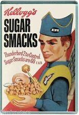 60's NOSTALGIA -KELLOGGS THUNDERBIRDS SUGAR SMACKS- JUMBO FRIDGE MAGNET #15