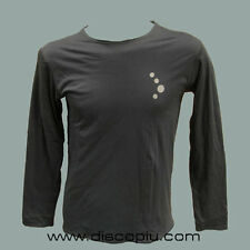 T-shirt 100% cotone COCOON IBIZA longsleeve men dark grey NEW maglia DJ taglia S