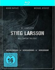 Stieg Larsson: MILLENNIUM TRILOGIE (3 Blu-ray Discs + DVD) Digipack, NEU+OVP
