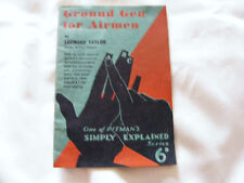 Ground Gen For Airmen WW2 Booklet RAF Life /Tips With Cartoon Type Illustrations