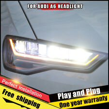 For Audi A6 Headlights assembly Bi-Xenon Lens Double Beam HID KIT 2012-2018