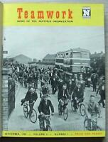 TEAM WORK NUFFIELD Bound Vol 2 Magazines Sept 1950 to Jul 1951 MG Riley MORRIS