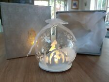 More details for home reflections christmas lighted snow globe. new in box.