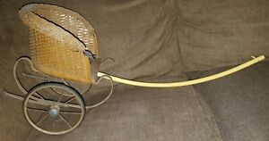 Antique Wicker 2 Wheel Childs Pull Cart