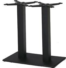 Tischgestell Gusseisen Doppelsäule Schwarz