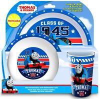 "Thomas & Friends ""College"" 3 Piece Dinner Set - Children's Tumbler, Bowl & Plate"