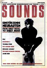 18/7/87pg01 Sounds Newspaper Cover Page : Einsturzende Neubauten's Blixa