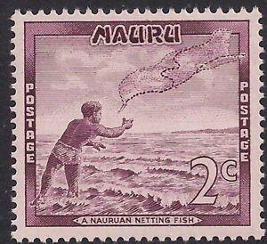 Nauru 1966 QE2 2ct Violet Netting Fish MM SG 67 ( F747 )