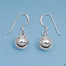 USA Seller Shiny Ball Hook Earrings Sterling Silver 925 Best Price Jewelry