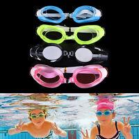 Niños natación gafas piscina playa mar nadar gafas niños tapones nariz c*QA
