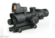 ACOG -STYLE- 4x32 LED SCOPE SIGHT RED AIRSOFT 20mm RAIL