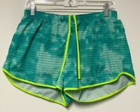 Womens New Balance Lined Running Shorts Green Aqua  Size M