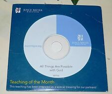 All Things Are Possible With God SEPT05 JOYCE MEYER CD of the Month #2507