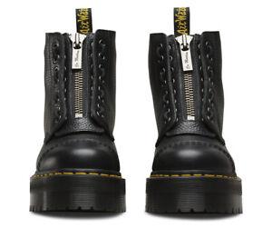 Dr. Martens Sinclair Leather Platform Boots Womens Black Fashion Shoes 22564001