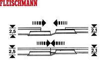 Fleischmann H0 6437 éclisses de transition rail professionnel (20 Pièces)