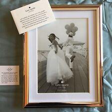 Kate Spade Lenox Rosy Glow Photo Frame  5x7 Silver Rose Gold Wedding Gift