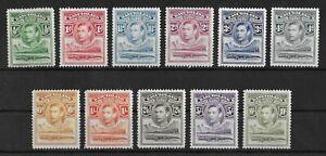 BASUTOLAND 1938 Mint NH/MH Complete Set of 11 SG #18-28 CV £130