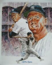 """Mickey Mantle """" Mickey Mantle NY Yankees """" 17.5 x 21"""" Lithograph by Petrocella"""