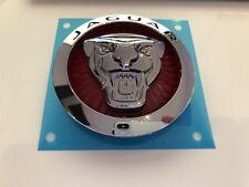 Jaguar Red Grillon badge 85 mm Growler Mascot bonnet grill poele Emblème OEM