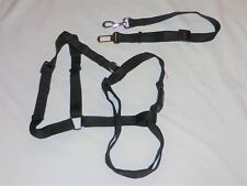Black DOG Car No Pull Walking HARNESS Sz. Large w/ Seatbelt Clip