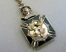 Victorian Moose Watch Fob & Chain 15 In Gold Filled [2437]