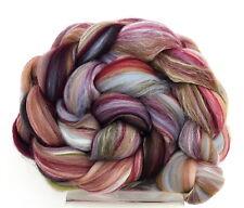 Merino Wool & Silk Blend Roving Tapestry 100g Hand spinning Felting Combed Top