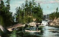 Mattawabika Falls Grand Trunk Railway Postcard Temagami District Ontario Canada