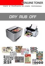 Dry Rub Off decal: 1 set A4 size, print Laser & Inkjet