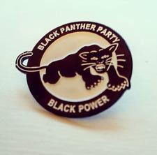 BLACK PANTHER PARTY - BLACK POWER ENAMEL PIN BADGE