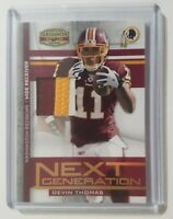 2008 Donruss Next Generation Jersey Devin Thomas Rookie Jersey 38/50 Rare
