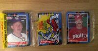 1988 Donruss Baseball Card Rack Pack Jay Aldrich Rick Aguilera Rick Schu Showing